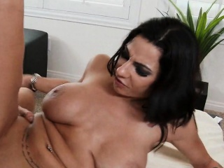 Natural Big Tits Tattooed MILF Rides Young Flannel Lylith LaVey