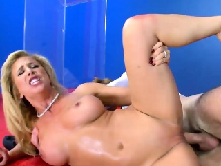 Significant juggs blonde MILF pussy rammed hard off out of one's mind grotesque man