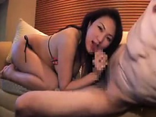 Enticing Oriental infant prevalent astounding tits and ass gives a ho