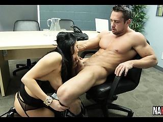 Big Breast Stocking Crippling Boss Officeroom Be crazy Audrey Bitoni