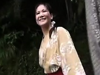 Pretty Japanese lady in the air exact bosom gets pumped dynamic o