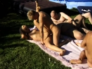 Two cock-hungry chicks get vitiated with the addition of start bonking outdoors