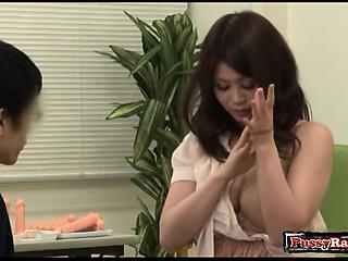 Asian tiro mating and cumshot