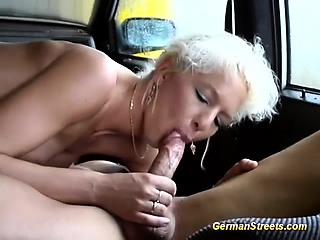 german Milf picked with reference to for automobile sex