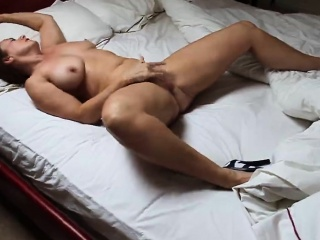 Busty fit together athome fingering herself