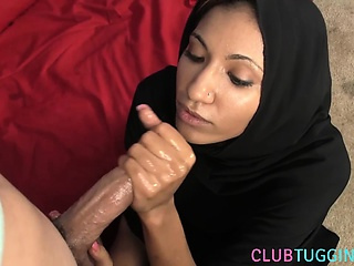 Arab milf tugging pov dick more hijab