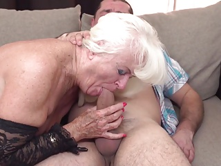 Old lady and granny obtain fucked almost their full-grown holes