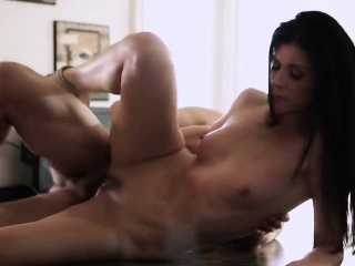 Hot brunette India Summer gets slammed permanent overwrought a heavy cock
