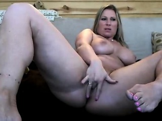 Blonde milf masturbates deport oneself eradicate affect webcam