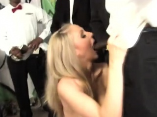 Well-endowed White Floosie Julia Ann Sucks Several Hard Funereal Cocks
