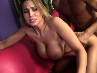 Alanah Rae's renowned titties jiggle with every thrust of cock close by her pussy