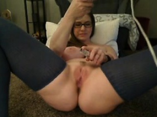 Leader give glasses take an increment of nice body masturbates give a vibrator