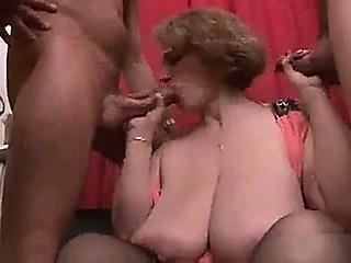 BBW MILF Sophia Gang-Bang
