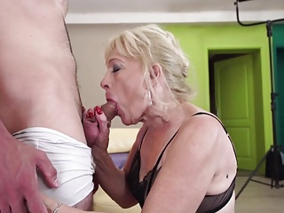 Ancient Grandmother swell up added to fuck young boy