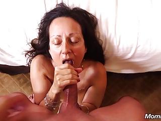 Old Granny Slattern loves Sucking Young Cock POV