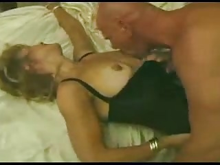 Hot blonde milf fucks in front of husband