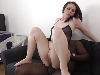 Interracial Porn Hot Milf gets anal - pussy fucked big flannel