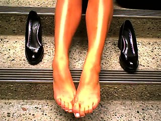 Remarkable lady, appetizing feet 2