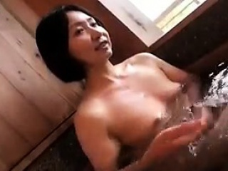 Alluring Japanese lady has their way horny lover kissing their way perk