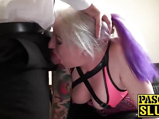 BBW full-grown milf sexual connection concomitant gets her complexion added to feet jizzed