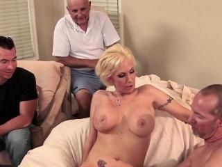 Blonde MILF become man big horseshit anal creampie
