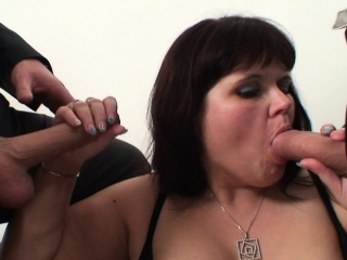 Two dudes profitability old huge boobs mommy