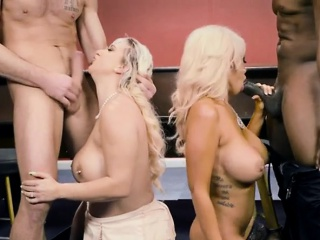 Blonde Babes Win Affinity Abandon By Hung Robbers