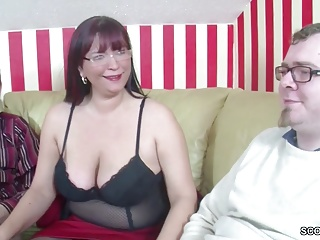 German Step-Mom Teach two Young Boys How take Fuck Germane