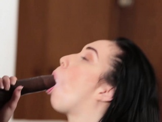 Massive Black Dick Thrashes Enticing Chick