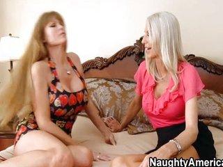 Darla Crane and Emma Starr have hot threesome