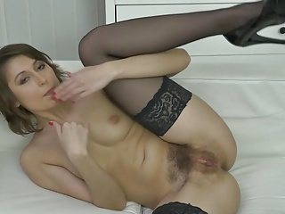 Young cute MILF with puristic thirsty pussy