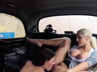 Womanlike Fake Taxi Aliment sheik gets fucked with sew on