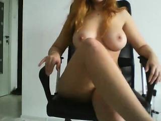 Stunning redhead mollycoddle with big boobs fuck a gay blade