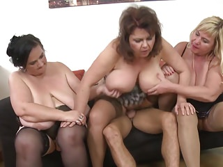 Four mamas wanna party near chunky hunk lady