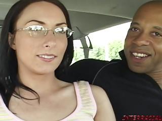 Maw in glasses fucks Blackzilla monster menacing cock