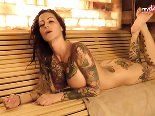 My Opprobrious Hobby - Busty tattooed MILF blows her man