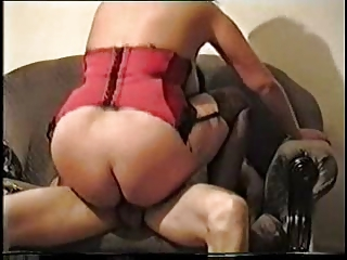 Big titted wife in lingerie taking charge on top