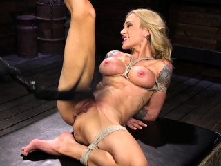Huge pair blonde Milf pussy whipped
