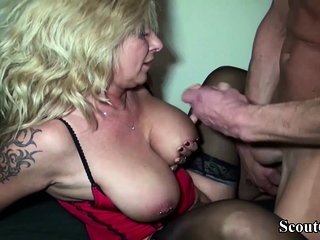 GERMAN MILF Brass hat Leman HUGE DICK Pauper round Office