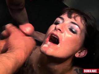 Adreena Winters is a real bukkake slut