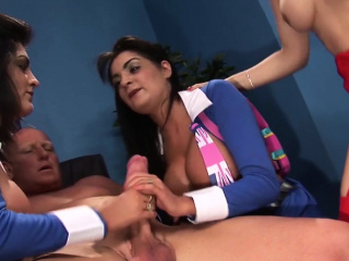 A uncompromisingly British group sex experience with twosome hot sluts