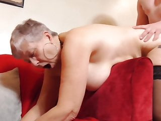 Busty granny beg a devoted call in for young man