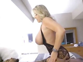 Chubby tits cougar fucked by BBC