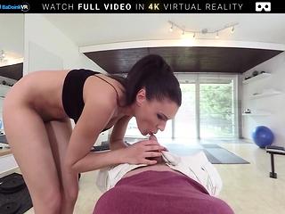 BaDoink VR Kitana Seduces Plus Fucks You Hither Be transferred to Gym VR Porn