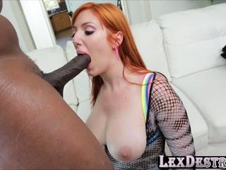 Big ass redhead Lauren Phillips gets banged nigh a bbc