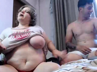 BBW with big jugs overhead webcam 2 asians p