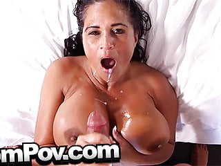 MomPov curvy thick MILF in all directions huge tits with an increment of ass fucking POV