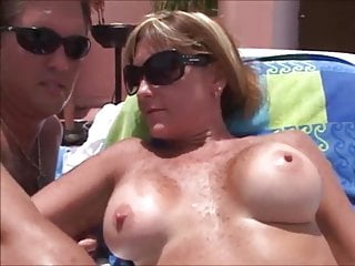 gorgeous milfs having bring to coitus at one's fingertips the resort