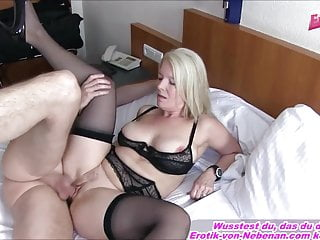 in the mood for MOTHER AND SON - German grown up Housewife mom Creampie
