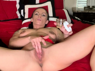 MILF Rubs Huge Clit added to Chubby Lips Piercing Clenching Orgasm
